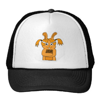 Back To School Cute Bunny Cartoon Trucker Hat