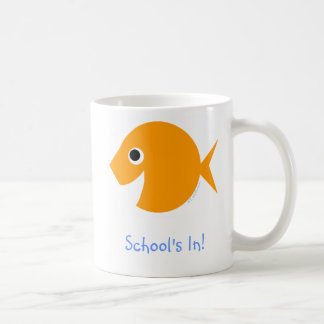 Back To School Cute Cartoon Goldfish Coffee Mug