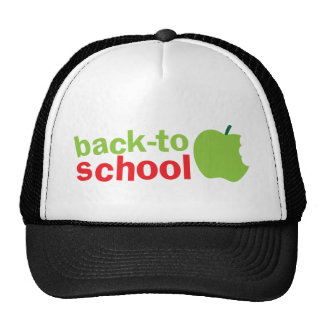 Back-To-School cute teacher design with an apple Hats