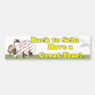 Back to School Ducks with Backpacks Photo Frame Car Bumper Sticker