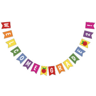Back to School Elementary Classroom Welcome Custom Bunting Flags