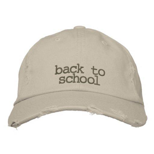 back to school baseball cap