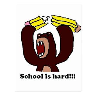 Back to School Grumpy Bear.png Postcard