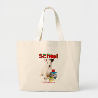 Back To School - Jack Russell Terrier Large Tote Bag