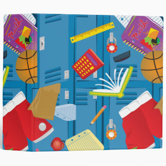 back to school locker and school supplies notebook 3 ring binders