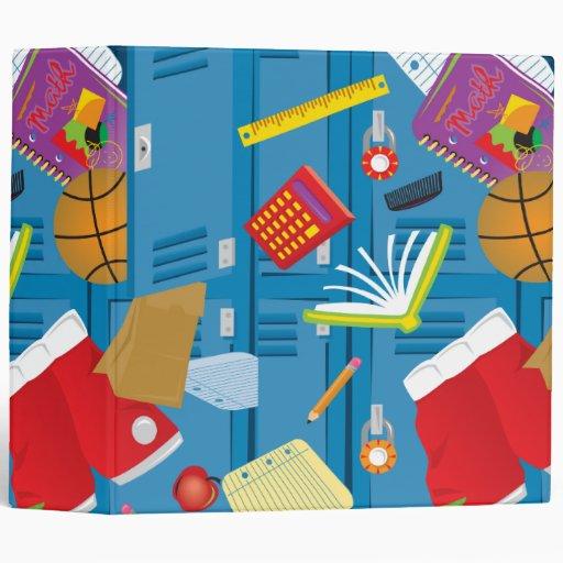 back to school locker and school supplies notebook 3 ring binders
