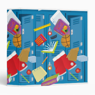 back to school locker notebook vinyl binder