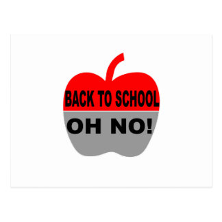 Back To School Oh No Postcard