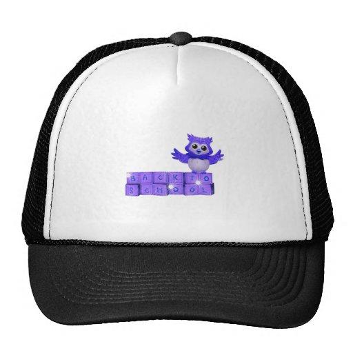 Back to school owl trucker hat