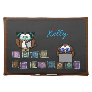 back to school owl placemat