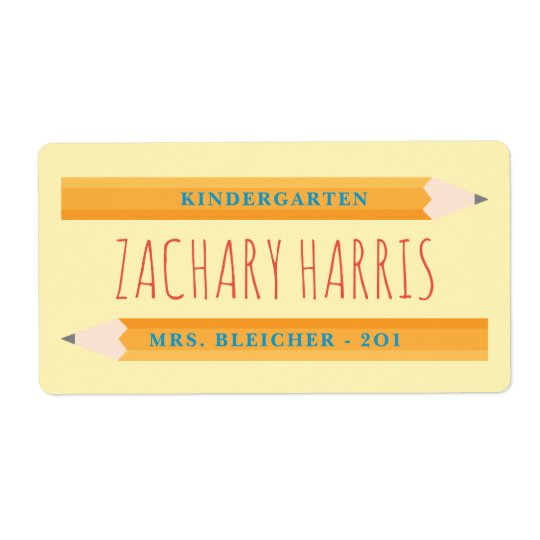 Back to School Pencil Label Shipping Label
