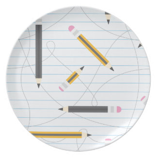 Back to School Pencils Plate