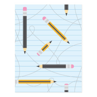 Back to School Pencils Postcard