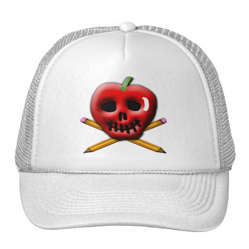 Back to School Pirate Inspired Design Mesh Hats
