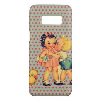 back to school retro polka dots Vintage Kids Case-Mate Samsung Galaxy S8 Case