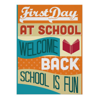 Back To School Retro Typography Poster