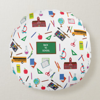 Back to School Round Pillow