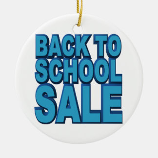 Back to School Sale Ceramic Ornament