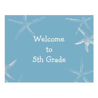 Back to School Starfish Welcome Postcard