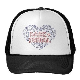 Back to School Supplies Sketchy Notebook Mesh Hat