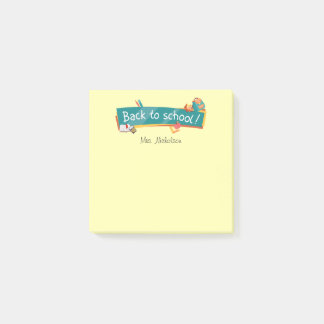 "Back to School Teacher 3"" x 3"" Post-it® Notes"
