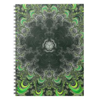 Back To School Trippy Fractal Spiral Notebooks