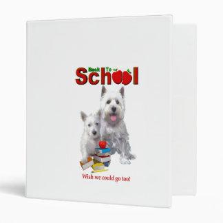 Back To School Westie – Mom & Baby Girl Binder