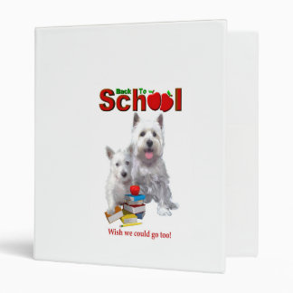 Back To School Westie – Mom & Baby Girl Vinyl Binders