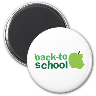 back to school with green apple refrigerator magnets