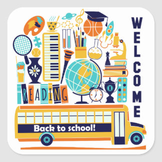Back to Schools stickers