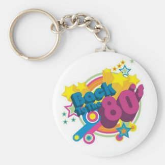 Back To The 80's Key Chain
