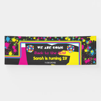 Back to the 80s Party Banner Sign