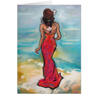 """""""Back to the Beach"""" Painting on Greeting Card"""