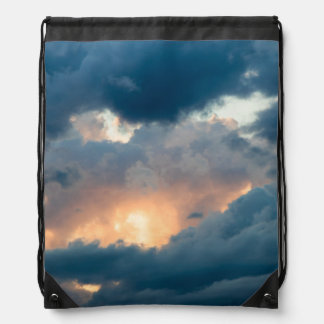 back to the early show drawstring bag