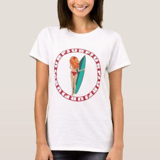 Back View of a Surfer Girl T-Shirt