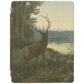 Back view of Elk Looking over a Lake iPad Cover