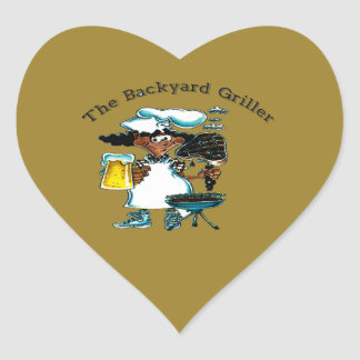 Back Yard Griller Dad Heart Sticker