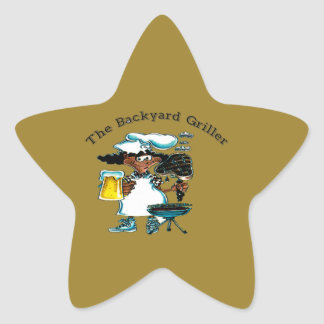 Back Yard Griller Dad Star Sticker