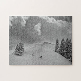 Backcountry Ski Climbers in fresh powder Jigsaw Puzzle