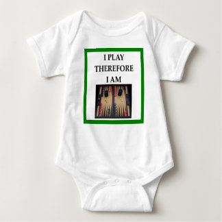 backgammon baby bodysuit