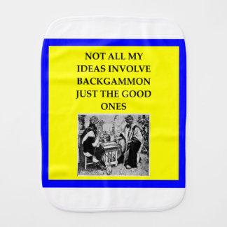 backgammon burp cloth