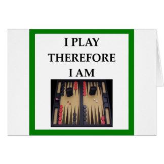 backgammon card