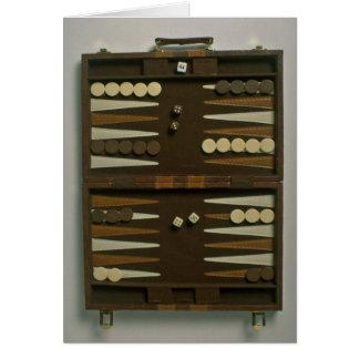 Backgammon game board card