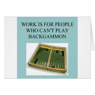 backgammon game card