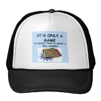 backgammon mesh hat