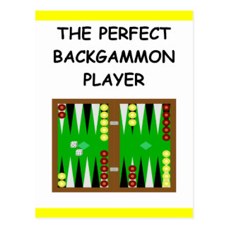 BACKGAMMON POSTCARD