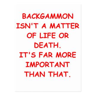 backgammon postcard
