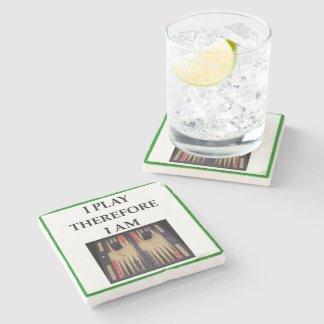 backgammon stone coaster