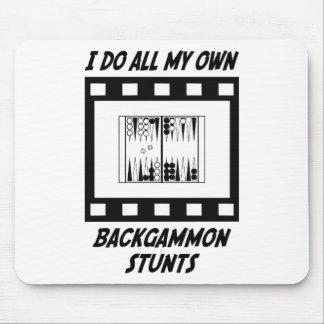 Backgammon Stunts Mouse Pad