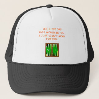 backgammon trucker hat